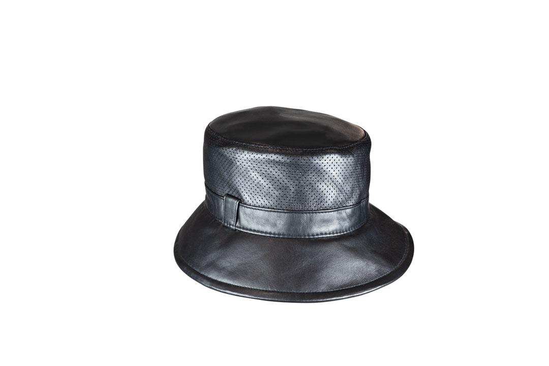 Edler Bucket Hat aus feinem Nappaleder